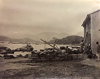 BNPS.co.uk (01202 558833)<br /> Pic: DominicWinterAuction/BNPS<br /> <br /> Incredible rural scene of Kowloon waterfront on the Chinese mainland before the building started.<br /> <br /> Revealed - A fascinating photo album from the very early days of British Hong Kong...long before the skyscrapers covered it over.<br /> <br /> The 150 year old photos of Hong Kong taken by one of the first British photographers to venture to the Far East have emerged for sale for £15,000.<br /> <br /> John Thomson, who was also a geographer, left Edinburgh for Singapore in 1862 and spent the following decade travelling the region.<br /> <br /> He explored a decidely low-rise Hong Kong from 1868 to 1870, taking numerous pictures of the rapidly expanding settlement and its industrious inhabitants.<br /> <br /> They capture the area, which is currently engulfed in unrest and protest, at a far more tranquil time.<br /> <br /> The photos are being sold with auction house Dominic Winter, of Cirencester, Gloucs.