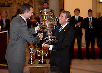 Prince Felipe of Spain attend the National Sports Awards ceremony at El Pardo Palace. December 05, 2012. (ALTERPHOTOS/Caro Marin) NortePhoto