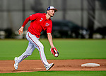 23 February 2019: Washington Nationals shortstop Trea Turner practices fielding grounders prior to a Spring Training game against the Houston Astros at the Ballpark of the Palm Beaches in West Palm Beach, Florida. The Nationals walked off with a 7-6 Opening Game win to start the Grapefruit League season. Mandatory Credit: Ed Wolfstein Photo *** RAW (NEF) Image File Available ***