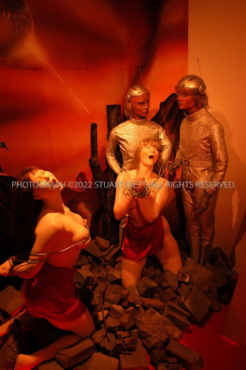 6/23/2002--Tokyo, Japan..The 'Ebisu Erotic Science Fiction Museum' in Tokyo's Ebisu district. The museum features an apocalyptic sex sci-fi epic with mannequins called '2001?An Erotic Space Odyssey'. Originally built in Mie in central Japan the museum has recently been moved to Tokyo where it draws curious crowds and sci-fi fanatics...All photographs ©2003 Stuart Isett.All rights reserved.This image may not be reproduced without expressed written permission from Stuart Isett.