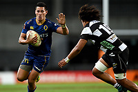 Sio Tomkinson of Otago during the 2018 Mitre 10 Cup Championship rugby semifinal between Canterbury and Counties Manukau at Forsyth Barr Stadium in Dunedin, New Zealand on Saturday, 20 October 2018. Photo: Joe Allison / lintottphoto.co.nz