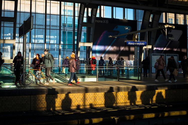 Afternoon shadows, Berlin Alexanderplatz Bahnhof