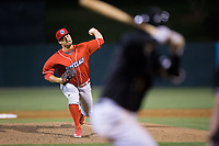 Lakewood BlueClaws relief pitcher Zach Morris (37) in action against the Kannapolis Intimidators at Kannapolis Intimidators Stadium on April 6, 2017 in Kannapolis, North Carolina.  The BlueClaws defeated the Intimidators 7-5.  (Brian Westerholt/Four Seam Images)