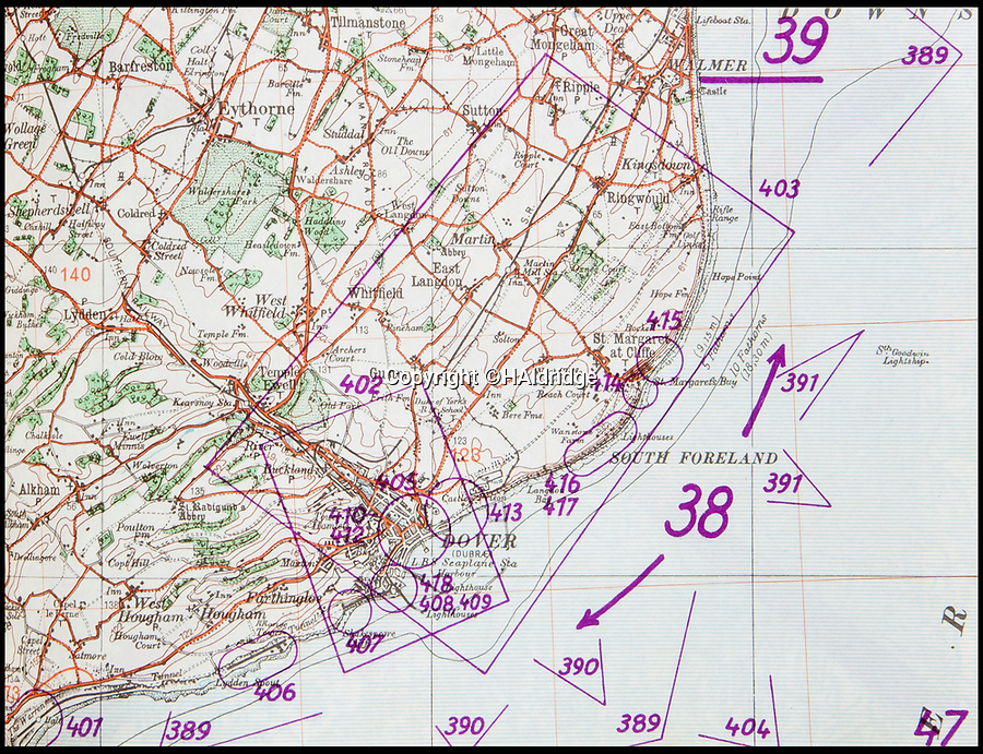 BNPS.co.uk (01202 558833)<br /> Pic: HAldridge/BNPS<br /> <br /> Detailed map of Dover.<br /> <br /> A top secret post war analysis by British Naval intelligence that offers a detailed and chilling account of the German equivalent of the D-Day landings has been uncovered.<br /> <br /> The volume was compiled by the British based on documents recovered in German naval archives after the war that outlined the Nazi invasion of the UK.<br /> <br /> And the blueprint for Operation Sealion that was to have taken place in September 1940 is remarkably similar to Operation Overlord - the Allied invasion of Normandy - four years later.<br /> <br /> Adolf Hitler identified five different sectors of the English coast to attack with 600,000 men ; from Ramsgate in Kent in the east to Selsey Bill in West Sussex in the west.