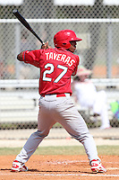 St. Louis Cardinals minor league player Oscar Taveras #27 during a spring training game vs the Florida Marlins at the Roger Dean Sports Complex in Jupiter, Florida;  March 25, 2011.  Photo By Mike Janes/Four Seam Images