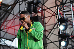 MIAMI GARDENS, FL - MARCH 17: Doug E. Fresh performs during 7th Annual Jazz In The Gardens at Sunlife Stadium on March 17, 2012 in Miami Gardens, Florida. (Photo by Johnny Louis/jlnphotography.com)