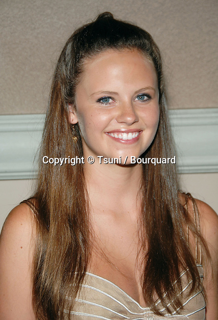Sarah Ramos  arriving at the  CW television Critic Assocoation Summer Party at the Ritz Carlton Pasadena Los Angeles. July 17, 2006.<br /> eye contact<br /> headshot<br /> smile