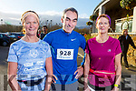 Mary Falvey, Ogie Sheehy and Nora Kelliher from Kenmare ready for road at the Optimal Fitness 5 and 10 k run at the Rose Hotel on Monday.
