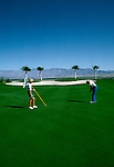 Sports: Golf: Southern CA desert, Ram's Hill Resort, model released,  Rams Hill Country Club, Borrego Springs, California.Photo Copyright: Lee Foster, lee@fostertravel.com, www.fostertravel.com,  (510) 549-2202.Image sports212