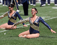 Pitt majorette. The Pitt Panthers beat the Maine Black Bears 35-29 at Heinz Field, Pittsburgh, PA on September 10, 2011.