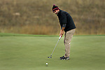 VALENTINE, NE - OCTOBER 2: Jared Nichols from South Dakota State University rolls his putt to the cup one the first hole during the SDSU Invite Monday at The Prairie Club in Valentine, NE. (Photo by Dave Eggen/Inertia)