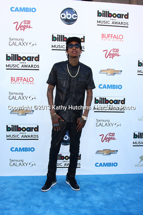 LOS ANGELES -  MAY 19:  Wiz Khalifa arrives at the Billboard Music Awards 2013 at the MGM Grand Garden Arena on May 19, 2013 in Las Vegas, NV