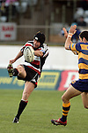 Blair Feeney clears under pressure during the Air NZ Cup rugby game between Bay of Plenty & Counties Manukau played at Blue Chip Stadium, Mt Maunganui on 16th of September, 2006. Bay of Plenty won 38 - 11.
