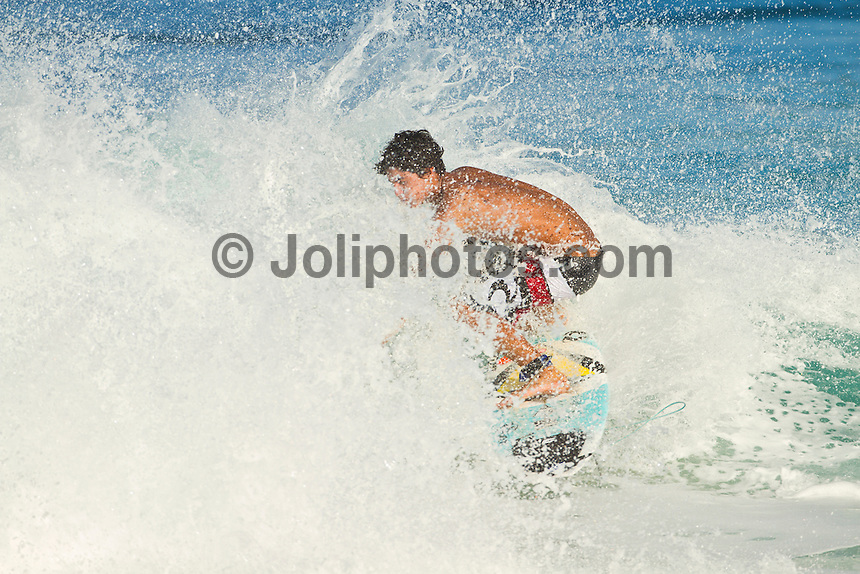Haleiwa Hawaii, (Tuesday November 23, 2010) Gabriel Medina (BRA).  .Three to five foot west nor west swell with light variable winds were the conditions for today's sessions at Off The Wall and Backdoor..Photo: joliphotos.com