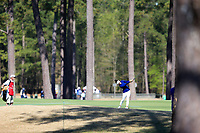 Jennifer Chang (USA) on the 1st during the second round of the Augusta National Womans Amateur 2019, Champions Retreat, Augusta, Georgia, USA. 04/04/2019.<br /> Picture Fran Caffrey / Golffile.ie<br /> <br /> All photo usage must carry mandatory copyright credit (&copy; Golffile | Fran Caffrey)