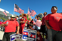 Phoenix, Arizona. October 5, 2013. Hundreds participate in the Arizona March for Dignity and Respect in Phoenix, Arizona, one of more than 100 rallies for immigration reform that took place across the United States. Photo by Eduardo Barraza © 2013
