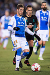 Ruben Salvador Perez del Marmol (L) of CD Leganes competes for the ball with Lucas Vazquez of Real Madrid during the Copa del Rey 2017-18 match between CD Leganes and Real Madrid at Estadio Municipal Butarque on 18 January 2018 in Leganes, Spain. Photo by Diego Gonzalez / Power Sport Images