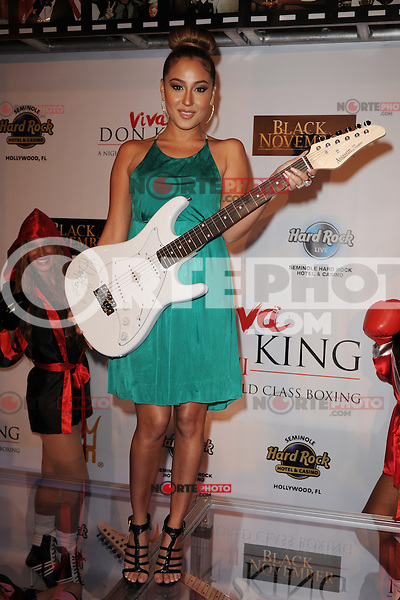 HOLLYWOOD FL - JUNE 22 : Adrienne Bailon arrives during Don King's 80th birthday celebration at Hard Rock live held at the Seminole Hard Rock Hotel &amp; Casino on June 22, 2012 in Hollywood, Florida. &copy;&nbsp;mpi04/MediaPunch Inc NORTEPHOTO.COM<br />
