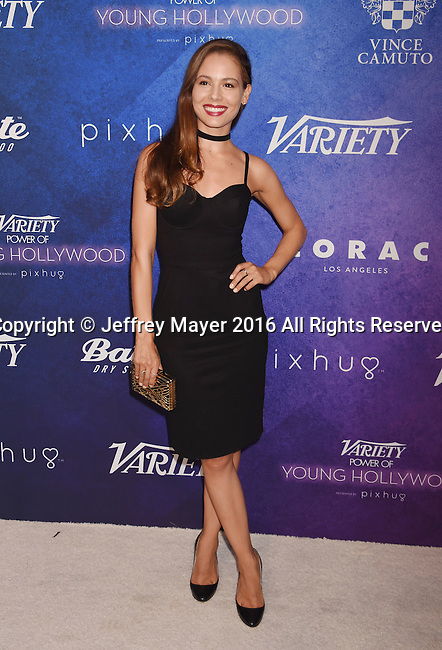 HOLLYWOOD, CA - AUGUST 16: Actress Martina Garcia arrives at Variety's Power Of Young Hollywood at NeueHouse Hollywood on August 16, 2016 in Los Angeles, California.