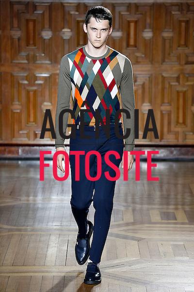 Londres, Inglaterra &ndash; 06/2014 - Desfile de Pringle of Scotland durante a Semana de moda masculina de Londres - Verao 2015. <br /> Foto: FOTOSITE