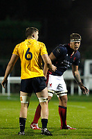 Matas Jurevicius of London Scottish during the Championship Cup match between London Scottish Football Club and Yorkshire Carnegie at Richmond Athletic Ground, Richmond, United Kingdom on 4 October 2019. Photo by Carlton Myrie / PRiME Media Images