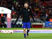 11th January 2018, Camp Nou, Barcelona, Spain; Copa del Rey football, round of 16, 2nd leg, Barcelona versus Celta Vigo; Leo Messi warms up