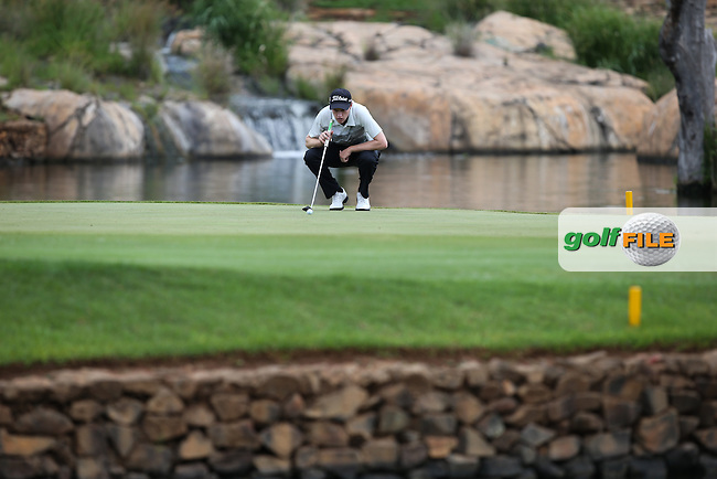 Kevin Phelan (IRL) prepares to put on the 9th during the Final Round of the Alfred Dunhill Championship 2013 at Leopard Creek, Malelane, South Africa. Picture:  David Lloyd / www.golffile.ie