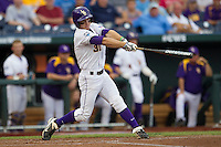 LSU Tiger shortstop Alex Bregman (30) swings the bat during Game 4 of the 2013 Men's College World Series against the UCLA Bruins on June 16, 2013 at TD Ameritrade Park in Omaha, Nebraska. UCLA defeated LSU 2-1. (Andrew Woolley/Four Seam Images)