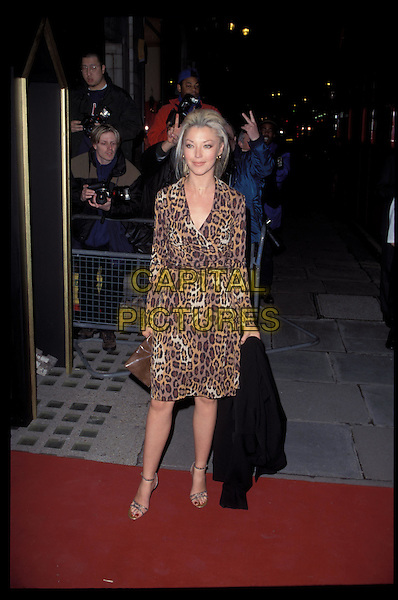 TAMARA BECKWITH.Ref:7238.leopard print dress, animal print, full length, full-length.RAW SCAN - PHOTO WILL BE ADJUSTED FOR PUBLICATION.www.capitalpictures.com.sales@capitalpictures.com.©Capital Pictures.