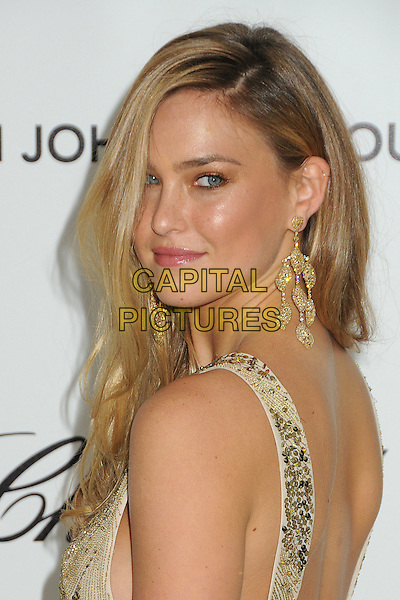 Bar Refaeli.20th Annual Elton John Academy Awards Viewing Party held at West Hollywood Park, West Hollywood, California, USA..February 26th, 2012.headshot portrait white silver gold looking over shoulder sequins sequined  earrings sleeveless oscars.CAP/ADM/BP.©Byron Purvis/AdMedia/Capital Pictures.