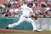 Buffalo Bisons starting pitcher Jenrry Mejia (66) during a game vs. the Syracuse Chiefs at Coca-Cola Field in Buffalo, New York;  August 30, 2010.  Syracuse defeated Buffalo 4-1.  Photo By Mike Janes/Four Seam Images
