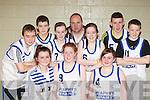 Ballylongford teens who participated at the KDYS county finals in Killarney on Sunday front row l-r: Hayley Doyle, Laura O'Sullivan, Tricia Jackman. Back row: Darran Murphy, Tadgh McEllistrim, Julie O'Sullivan, David Murphy, Shannon McCarthy, Darragh Keane and Cieran O'Connor..............