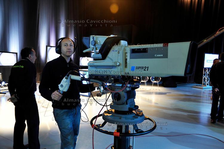 24 NOV 2010; Milano; Studi televisivi di TELELOMBARDIA, presentazione di MILANOW nuovo canale digitale