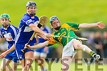 Dougie Fitzell Kilmoyley in action against Cian Hussey Saint Brendan's in the County Senior Hurling Final at Abbeydorney on Sunday.