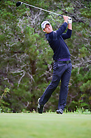 Nick Taylor (CAN) watches his tee shot on 5 during round 3 of the Valero Texas Open, AT&amp;T Oaks Course, TPC San Antonio, San Antonio, Texas, USA. 4/22/2017.<br /> Picture: Golffile | Ken Murray<br /> <br /> <br /> All photo usage must carry mandatory copyright credit (&copy; Golffile | Ken Murray)