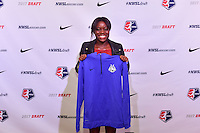 Los Angeles, CA - Thursday January 12, 2017: Toni Payne during the 2017 NWSL College Draft at JW Marriott Hotel.