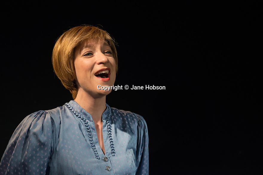 London, UK. 26.11.2013. JULIE MADLY DEEPLY, opens at the Trafalgar Studios, after a successful run at this year's Edinburgh Festival. Starring Sarah-Louise Young, with musical accompaniment by Michael Roulston. Photography © Jane Hobson.
