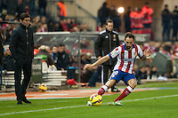 Atletico de Madrid´s Juanfran and Villarreal´s Marcelino Garcia during 2014-15 La Liga match between Atletico de Madrid and Villarreal at Vicente Calderon stadium in Madrid, Spain. December 14, 2014. (ALTERPHOTOS/Luis Fernandez) /NortePhoto