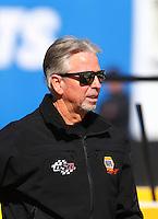 Feb 3, 2016; Chandler, AZ, USA; Rahn Tobler , crew chief for NHRA funny car driver Ron Capps (not pictured) during pre season testing at Wild Horse Pass Motorsports Park. Mandatory Credit: Mark J. Rebilas-USA TODAY Sports