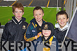 Dr Crokes fans at the UCC v Dr Crokes game in Fitzgerald Stadium on Sunday, from left: Frank McGuire, Shane Looney, Darragh Looney and Harry Potts..