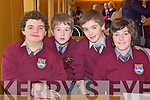 Pupils from Scoil Realt na Maidine at the Credit Union Quiz on Sunday, from left: Sean Carey, Eddie Kelly, Daniel Sheehan and Eddie Brown.