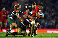 Will Skelton of Saracens takes on the Leicester Tigers defence. Gallagher Premiership match, between Leicester Tigers and Saracens on November 25, 2018 at Welford Road in Leicester, England. Photo by: Patrick Khachfe / JMP