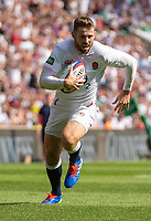 England's Elliot Daly in action during todays match<br /> <br /> Photographer Bob Bradford/CameraSport<br /> <br /> Quilter Internationals - England v Ireland - Saturday August 24th 2019 - Twickenham Stadium - London<br /> <br /> World Copyright © 2019 CameraSport. All rights reserved. 43 Linden Ave. Countesthorpe. Leicester. England. LE8 5PG - Tel: +44 (0) 116 277 4147 - admin@camerasport.com - www.camerasport.com