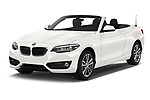 2018 BMW 2 Series Sport 2 Door Convertible angular front stock photos of front three quarter view