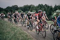 Funnt faced Nicolas Roche (IRE/BMC) up the first HC climb of the day; the Col de la Biche (10.5km @9%)<br /> <br /> 104th Tour de France 2017<br /> Stage 9 - Nantua › Chambéry (181km)