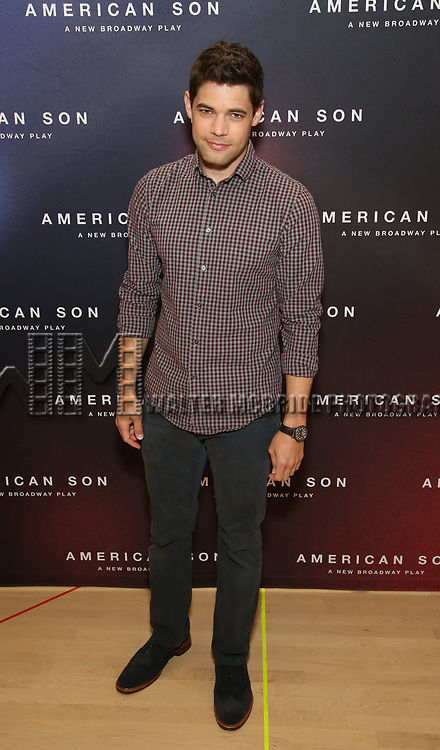 """Jeremy Jordan attends the Cast photo call for the New Broadway Play """"American Son"""" on September 14, 2018 at the New 42nd Street Studios in New York City."""