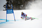 December 1, 2017:  Austria's, Hannes Reichelt #7, charges down a very fast slope on his way to a third place finish in the Super G competition during the FIS Audi Birds of Prey World Cup, Beaver Creek, Colorado.