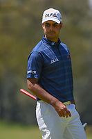 Shubhankar Sharma (IND) looks back at the hole after sinking his par putt on 2 during round 4 of the World Golf Championships, Mexico, Club De Golf Chapultepec, Mexico City, Mexico. 3/4/2018.<br /> Picture: Golffile | Ken Murray<br /> <br /> <br /> All photo usage must carry mandatory copyright credit (© Golffile | Ken Murray)