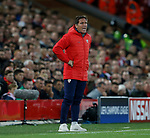 Eduardo Berizzo coach of Sevilla during the Champions League Group E match at the Anfield Stadium, Liverpool. Picture date 13th September 2017. Picture credit should read: Simon Bellis/Sportimage
