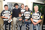 WINNER: Kenmare Rugby club held a draw for stand tickets for the Heineken Cup match in Thomond Park, the draw took place in the Wander Inn, Kenmare on Sunday, and the lucky winner was young Tommy Meagher, pictured here l-r: Martin O'Shea, Tom Meagher, Tommy, Dave Little John, Mike Miles (who made the presentation) and J P Murphy.